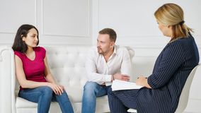 Family marriage counseling therapy session concept royalty free stock photography