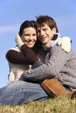 Couple Sitting In Park Together Stock Image