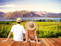 Couple Sitting Romance Relaxation Concept Royalty Free Stock Photo