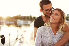 Couple Sitting on Their Boat Stock Images