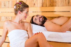 Couple sitting in wellness spa Royalty Free Stock Photo