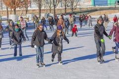 A couple skating Royalty Free Stock Photo