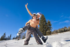Couple on ski vacation Royalty Free Stock Photography