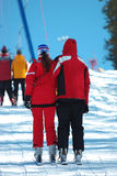 Couple of skiers Royalty Free Stock Photo