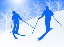Couple skiing Stock Photo