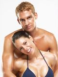 Couple skin. Royalty Free Stock Photo