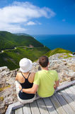 Couple at Skyline Trail in Eastern Canada Stock Photos