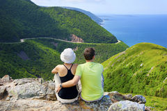Couple at Skyline Trail in Eastern Canada Royalty Free Stock Images