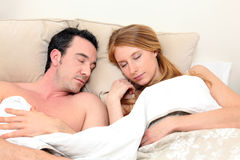 Couple sleeping Royalty Free Stock Photo