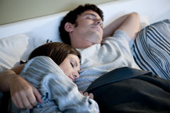 Couple sleeping Royalty Free Stock Photos