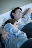Couple sleeping Stock Photo