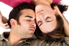 Couple sleeping Royalty Free Stock Images