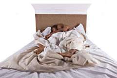 Couple sleeping Royalty Free Stock Image
