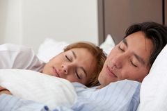 Couple sleeping Royalty Free Stock Photography
