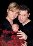 Couple with sleeping baby royalty free stock photography
