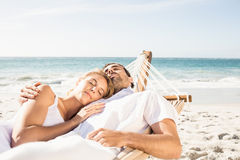 Couple sleeping in hammock Royalty Free Stock Images