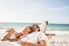 Couple sleeping in hammock Royalty Free Stock Image