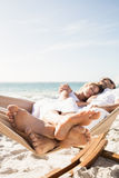 Couple sleeping in hammock Royalty Free Stock Photography