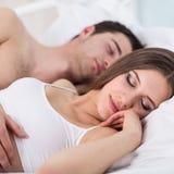 Couple sleeping Stock Photos