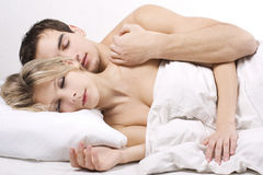 Couple Sleeping Together Royalty Free Stock Photography