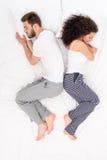 Couple sleeping Zen style pose Royalty Free Stock Images