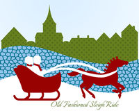 Couple on sleigh ride Royalty Free Stock Photo