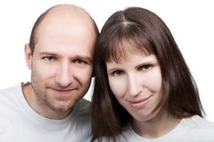 Couple smiling stock photography