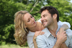 Couple smiling Royalty Free Stock Photography