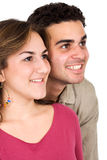 Couple smiling Stock Images