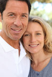 Couple smiling Royalty Free Stock Images