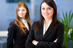 Couple of smiling business woman Royalty Free Stock Images