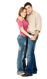 Couple smiling and hugging Stock Photos