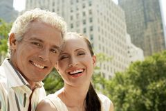 Couple Smiling Together Royalty Free Stock Images