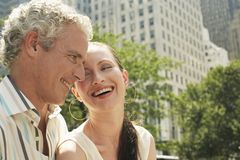 Couple Smiling Together Stock Images