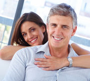 Couple smiling together Royalty Free Stock Photography