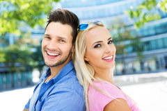 couple smiling young Στοκ Εικόνες