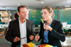 Couple with snack for lunch Royalty Free Stock Photo