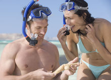 A couple snorkeling Royalty Free Stock Image