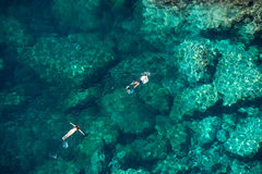 Couple Snorkeling In The Sea Stock Image