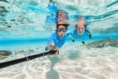 Couple snorkeling Royalty Free Stock Image