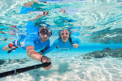 Couple snorkeling Royalty Free Stock Photography