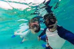 Couple snorkeling Stock Photo
