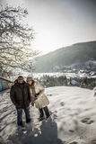 Couple in the snow Royalty Free Stock Photos