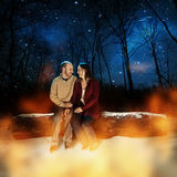 Couple in the snow Royalty Free Stock Photography