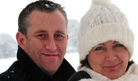Couple in the snow Royalty Free Stock Photo