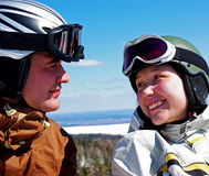 Couple of Snowboarders Royalty Free Stock Image