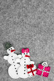 Couple of snowman Royalty Free Stock Image