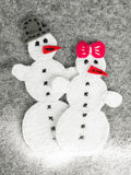 Couple of snowman Stock Images