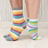 Couple in socks Royalty Free Stock Photos