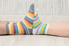 Couple in socks Royalty Free Stock Photography